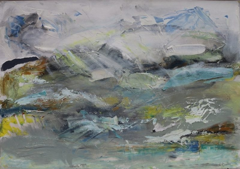 Hazy Day - mixed media on canvas board - 45cm x 35cm